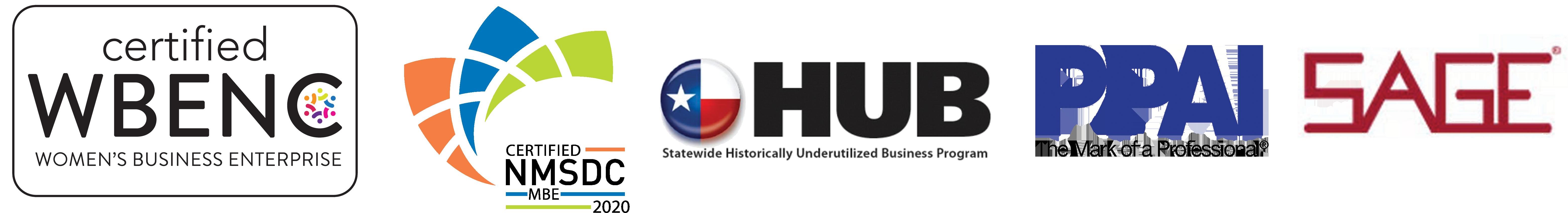women own certified logo, nmsdc logo, HUB logo